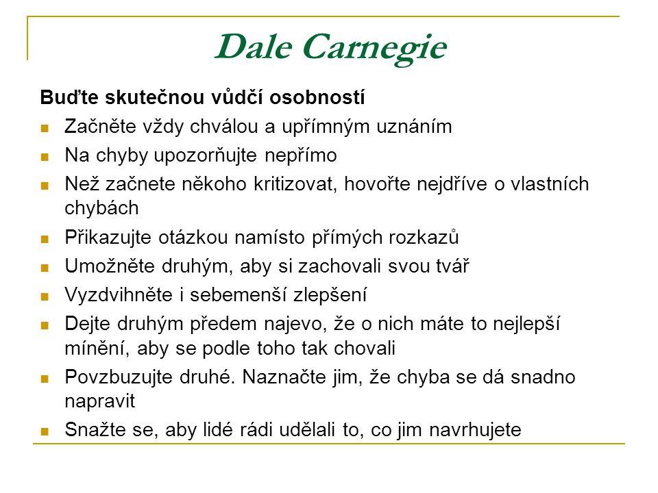 Dale Carnegie Buďte skutečnou vůdčí osobností