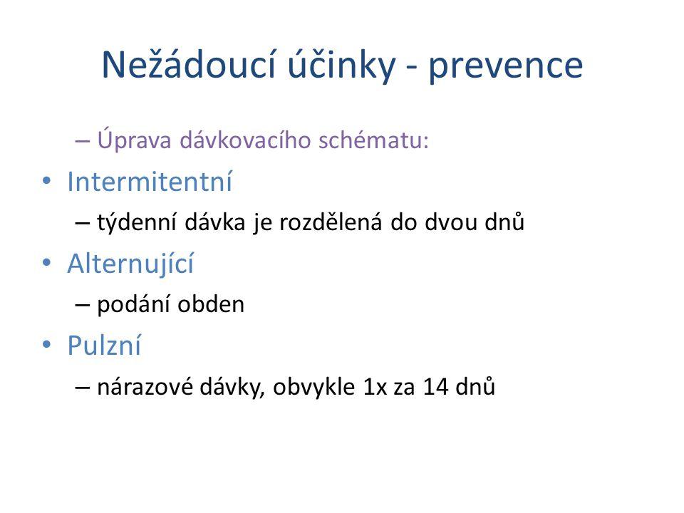 Nežádoucí účinky - prevence