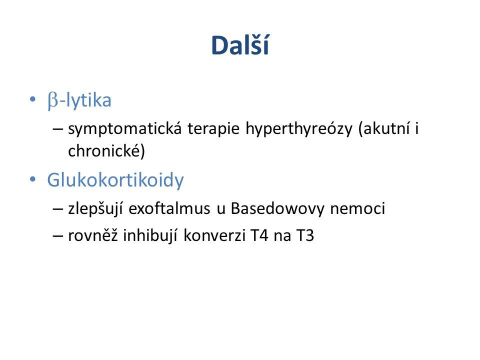 Další b-lytika Glukokortikoidy