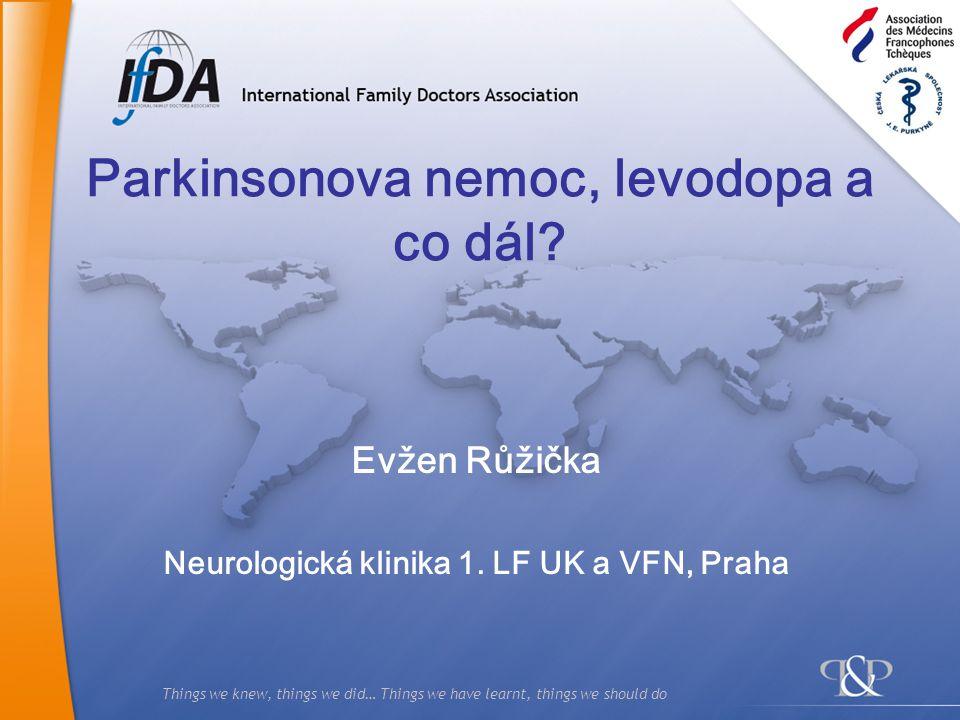 Parkinsonova nemoc, levodopa a co dál