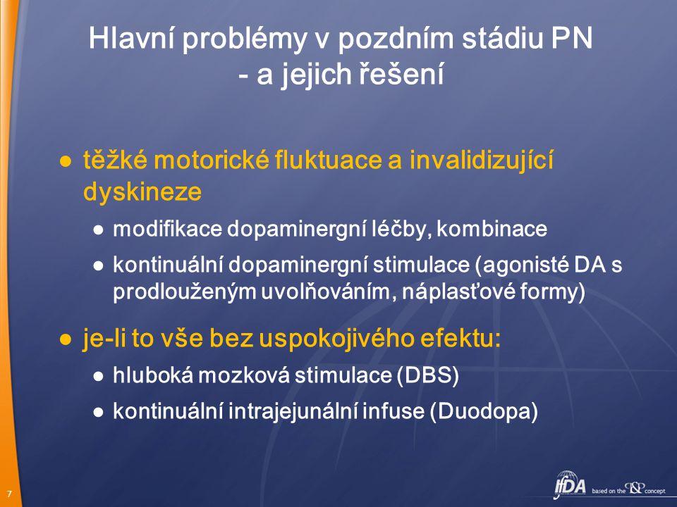 Hlavní problémy v pozdním stádiu PN - a jejich řešení