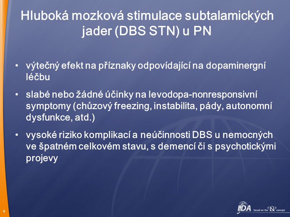 Hluboká mozková stimulace subtalamických jader (DBS STN) u PN