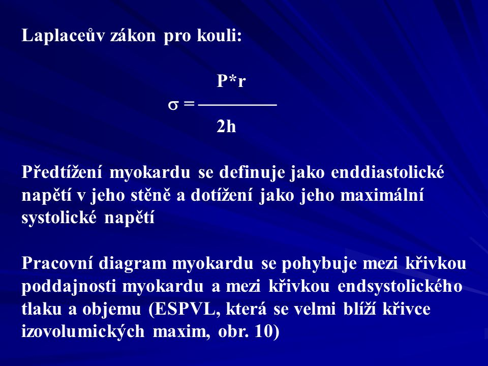 Laplaceův zákon pro kouli: