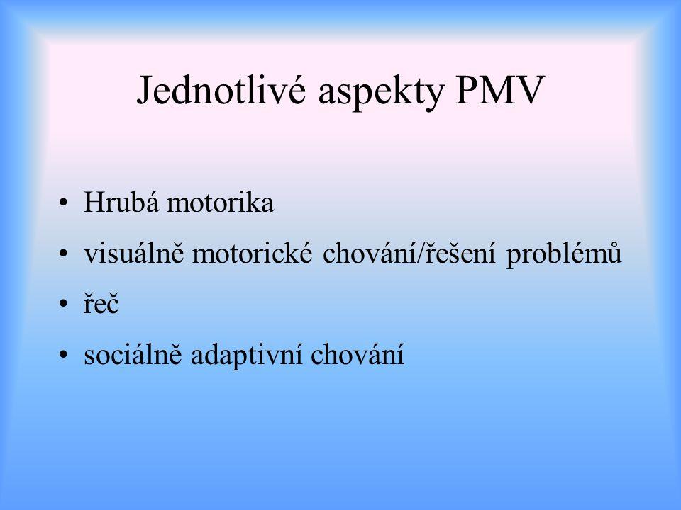 Jednotlivé aspekty PMV