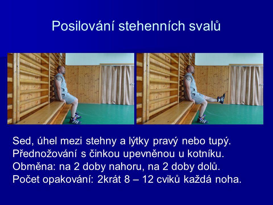 Posilování stehenních svalů