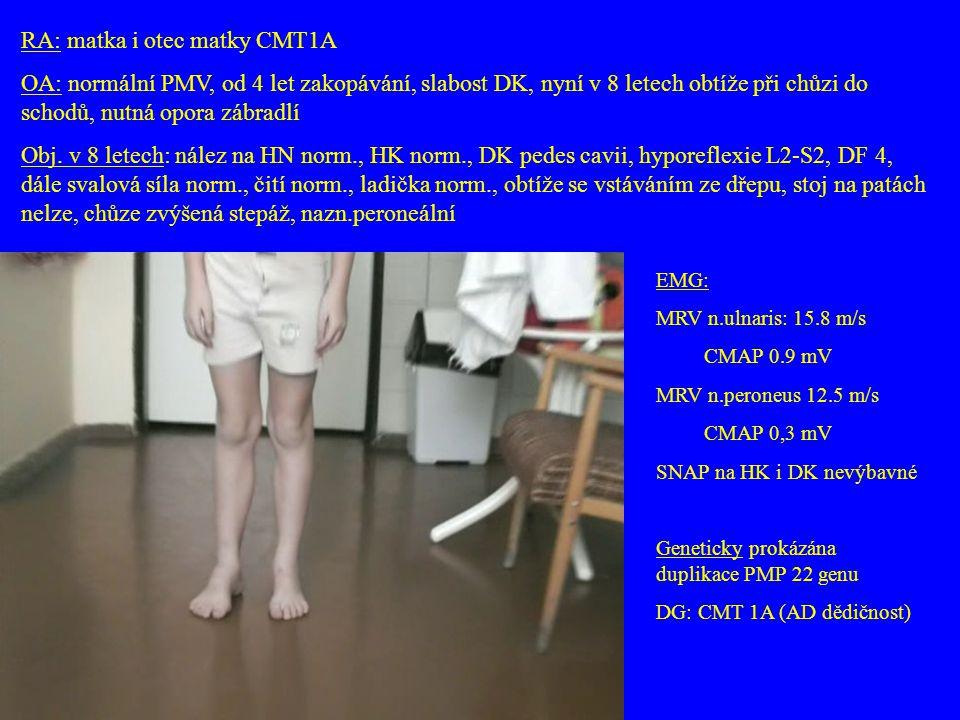 RA: matka i otec matky CMT1A