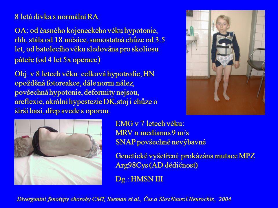 8 letá dívka s normální RA