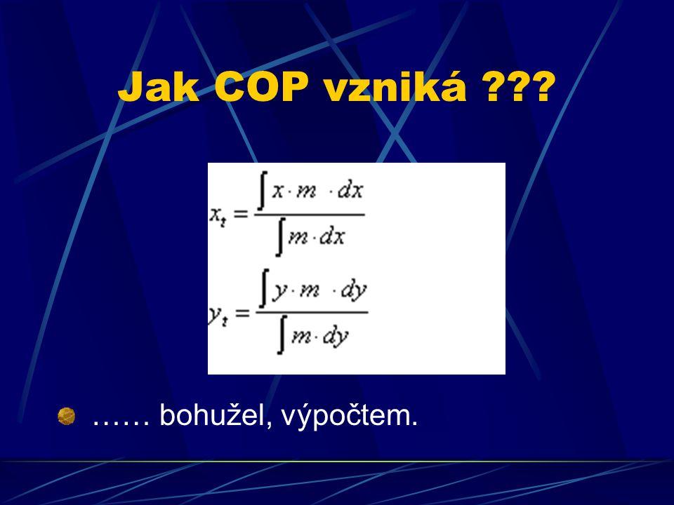 Jak COP vzniká …… bohužel, výpočtem.