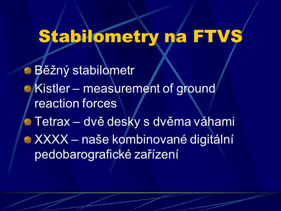 Stabilometry na FTVS Běžný stabilometr