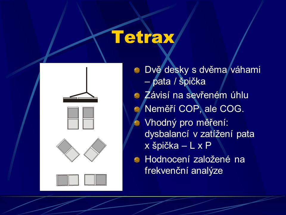 Tetrax Dvě desky s dvěma váhami – pata / špička