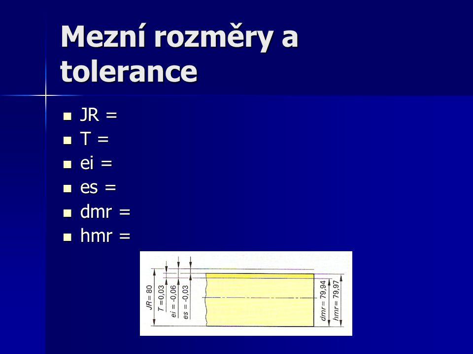 Mezní rozměry a tolerance