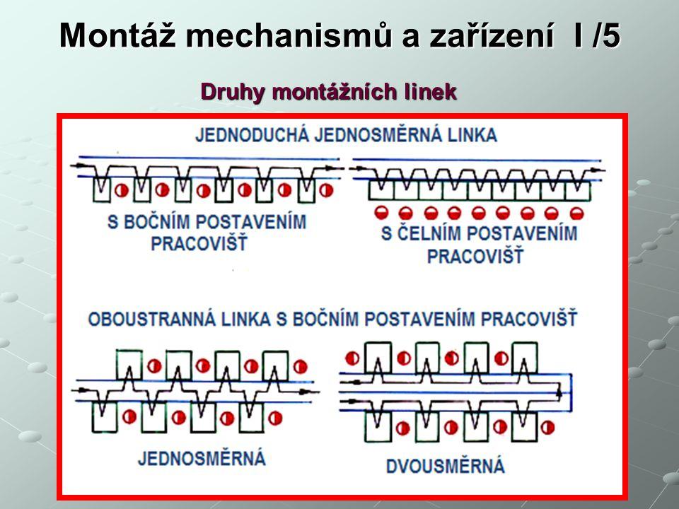 Montáž mechanismů a zařízení I /5