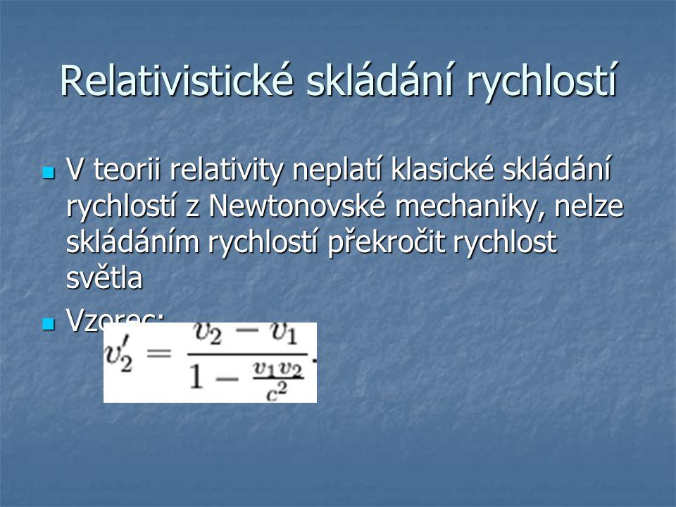 Relativistické skládání rychlostí