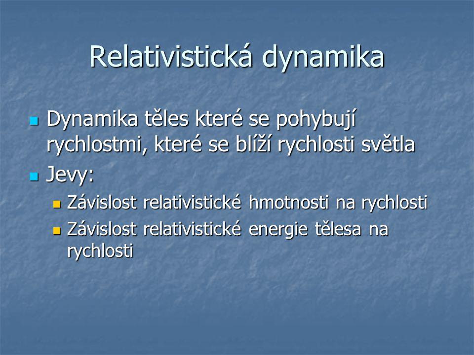 Relativistická dynamika