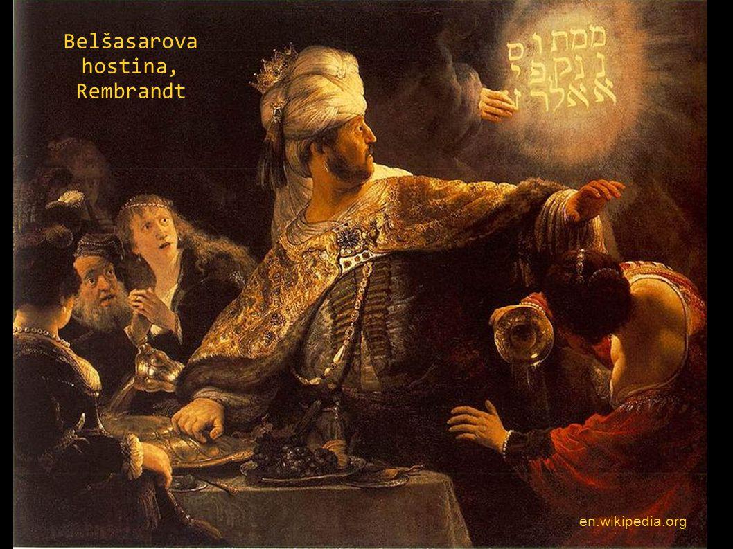 Belšasarova hostina, Rembrandt