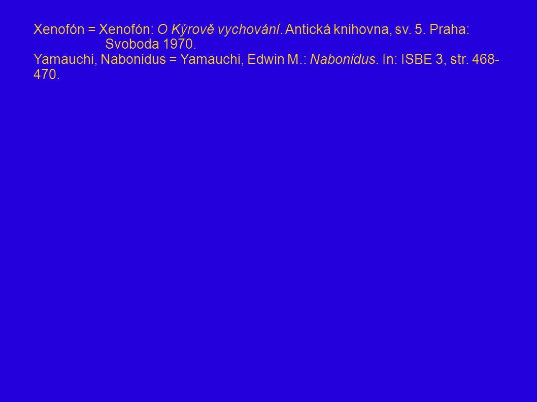 Xenofón = Xenofón: O Kýrově vychování. Antická knihovna, sv. 5. Praha: