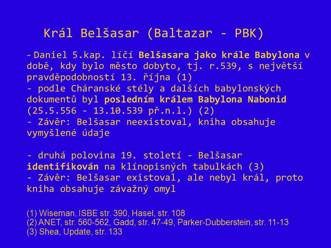 Král Belšasar (Baltazar - PBK)