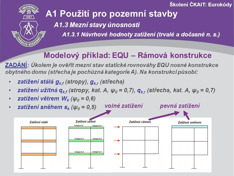 Modelový příklad: EQU – Rámová konstrukce
