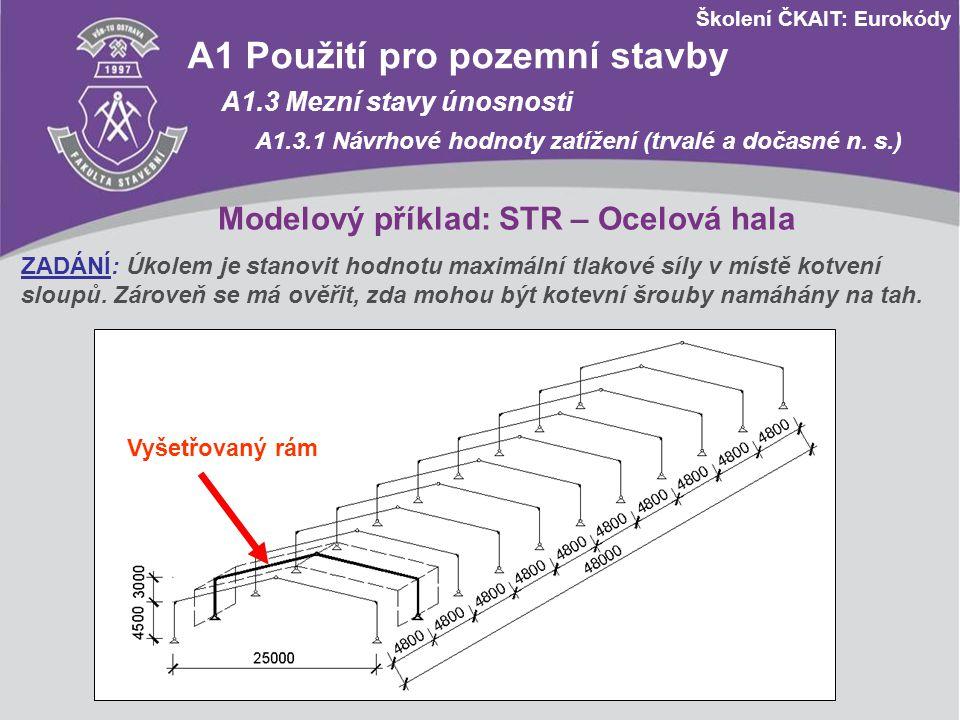 Modelový příklad: STR – Ocelová hala