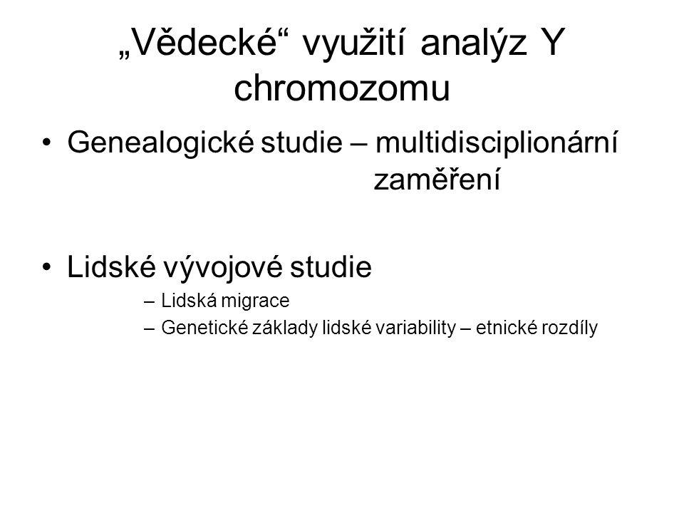 """""""Vědecké využití analýz Y chromozomu"""