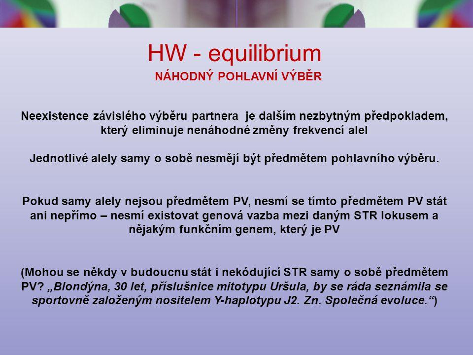 HW - equilibrium NÁHODNÝ POHLAVNÍ VÝBĚR
