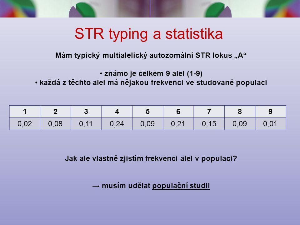 STR typing a statistika