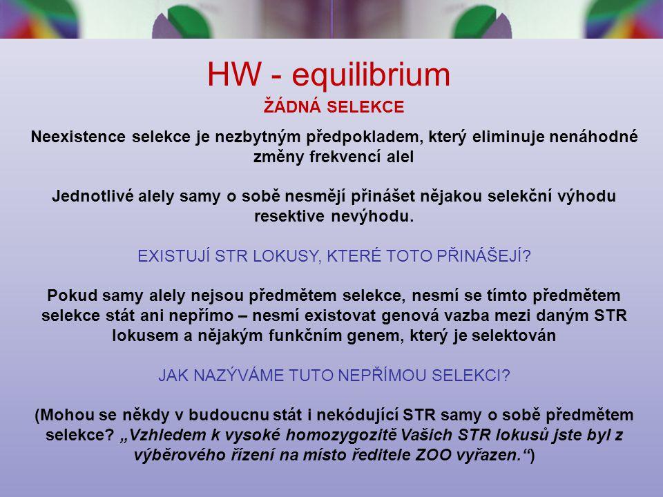 HW - equilibrium ŽÁDNÁ SELEKCE