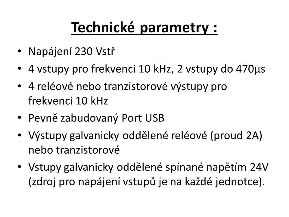 Technické parametry : Napájení 230 Vstř