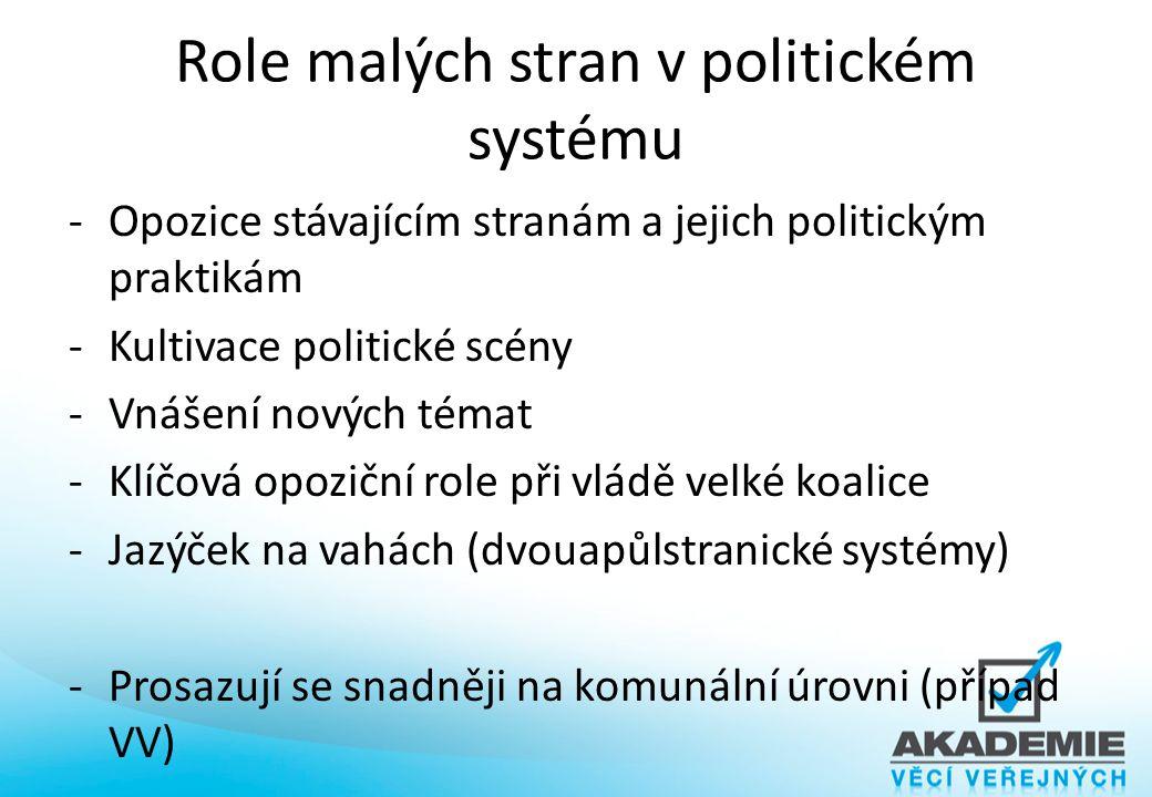 Role malých stran v politickém systému