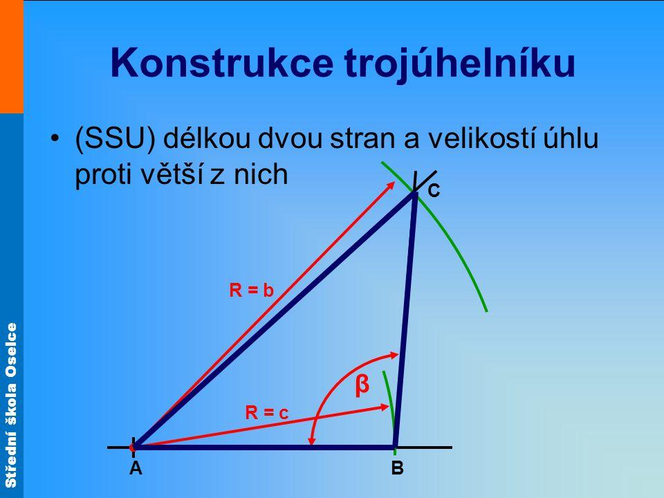 Konstrukce trojúhelníku