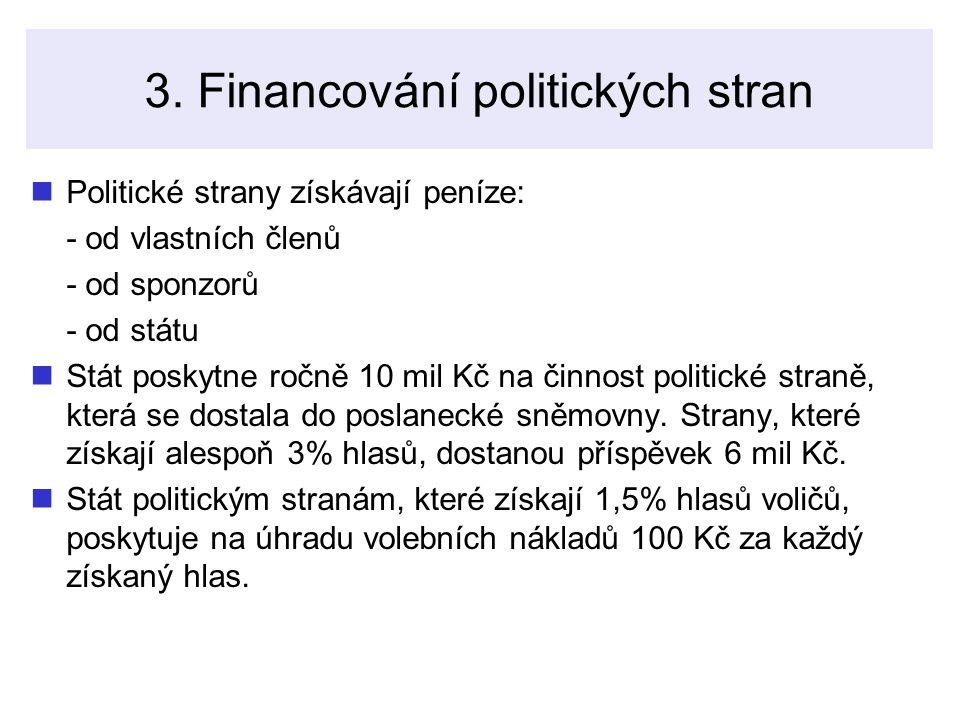 3. Financování politických stran
