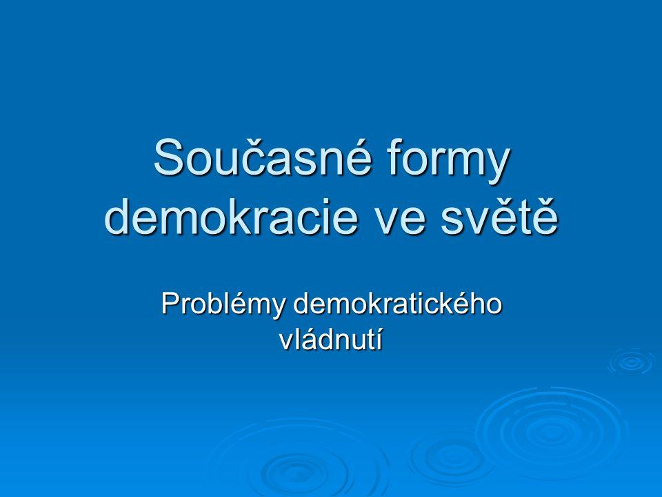 Současné formy demokracie ve světě
