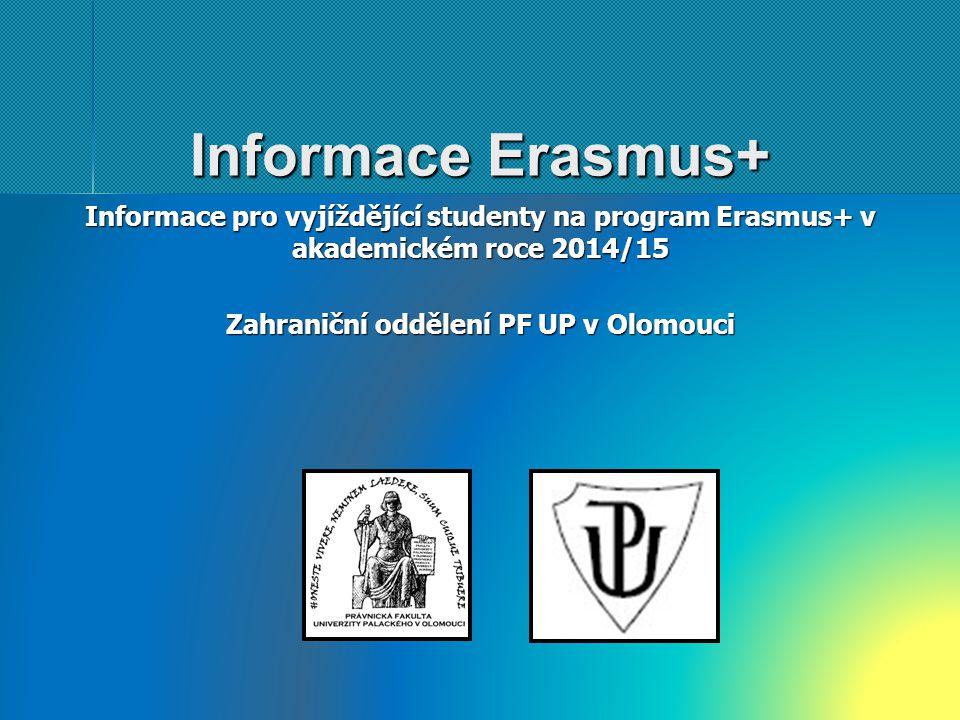 Zahraniční oddělení PF UP v Olomouci