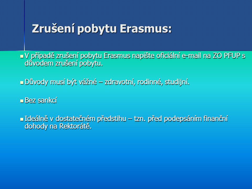 Zrušení pobytu Erasmus: