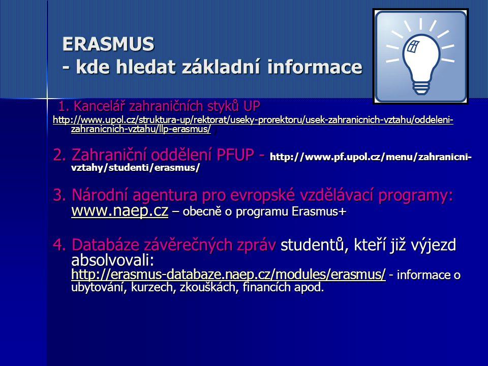 ERASMUS - kde hledat základní informace