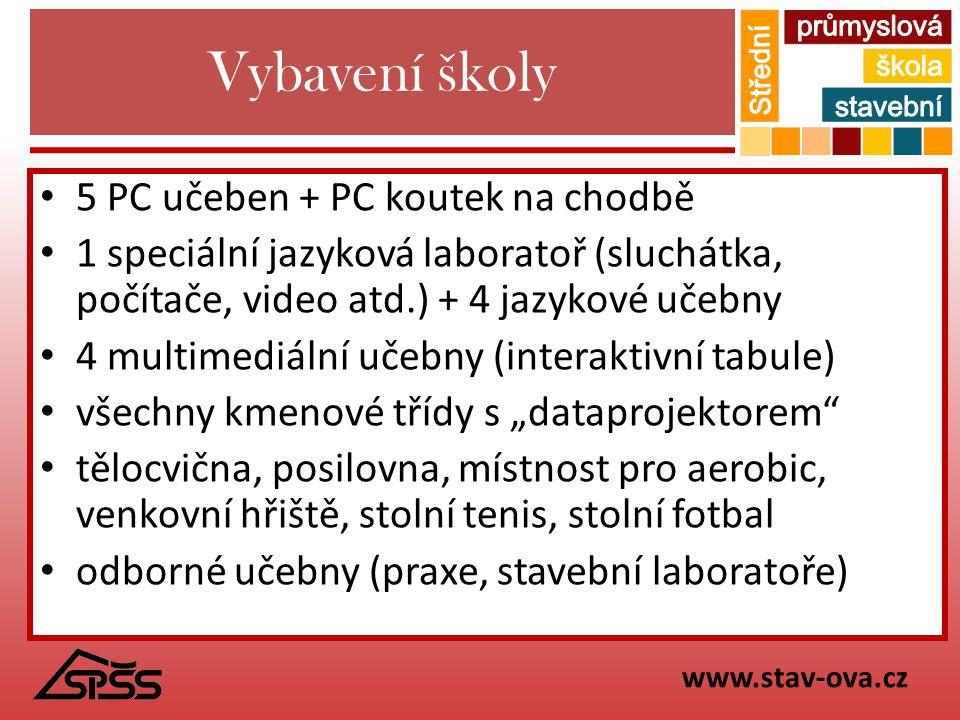 Vybavení školy 5 PC učeben + PC koutek na chodbě