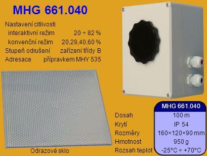 MHG 661.040 Nastavení citlivosti interaktivní režim 20 ÷ 82 %