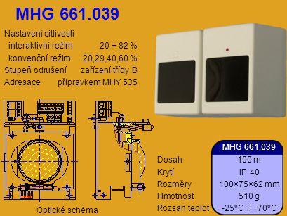 MHG 661.039 Nastavení citlivosti interaktivní režim 20 ÷ 82 %