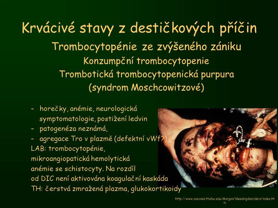 Krvácivé stavy z destičkových příčin