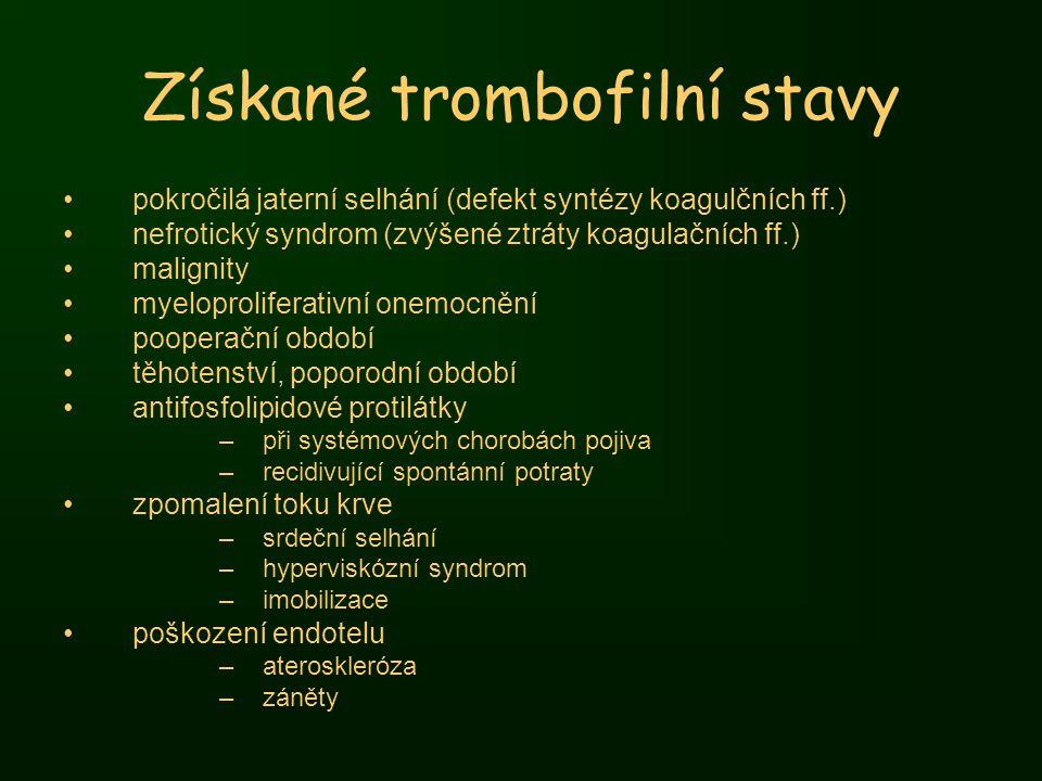 Získané trombofilní stavy