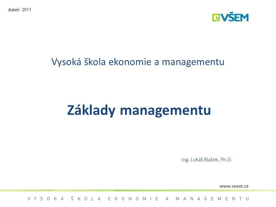 Vysoká škola ekonomie a managementu