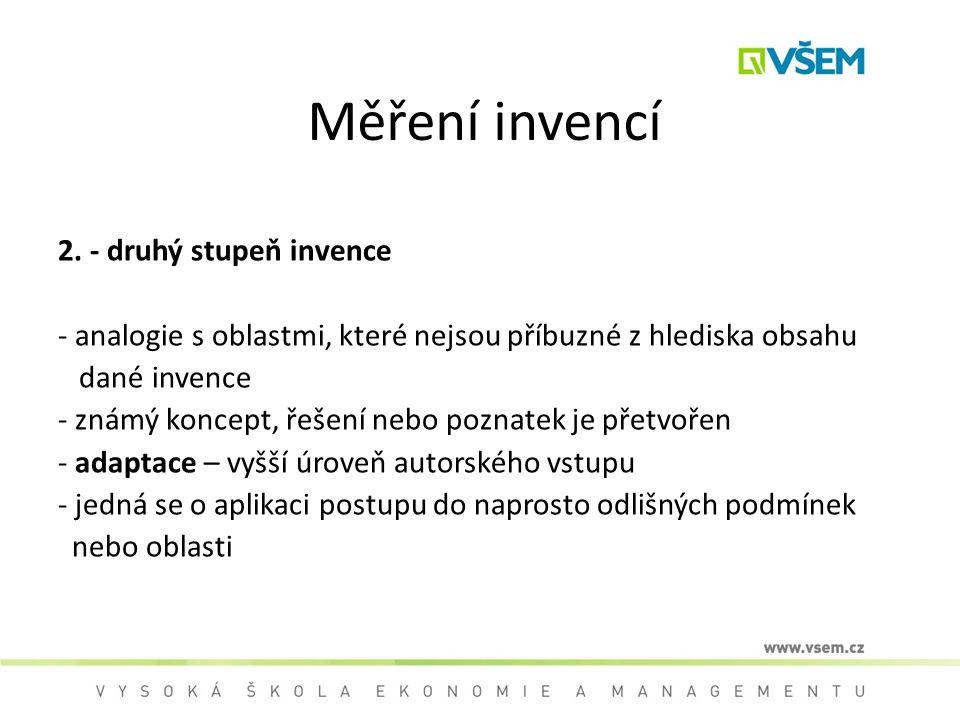 Měření invencí 2. - druhý stupeň invence