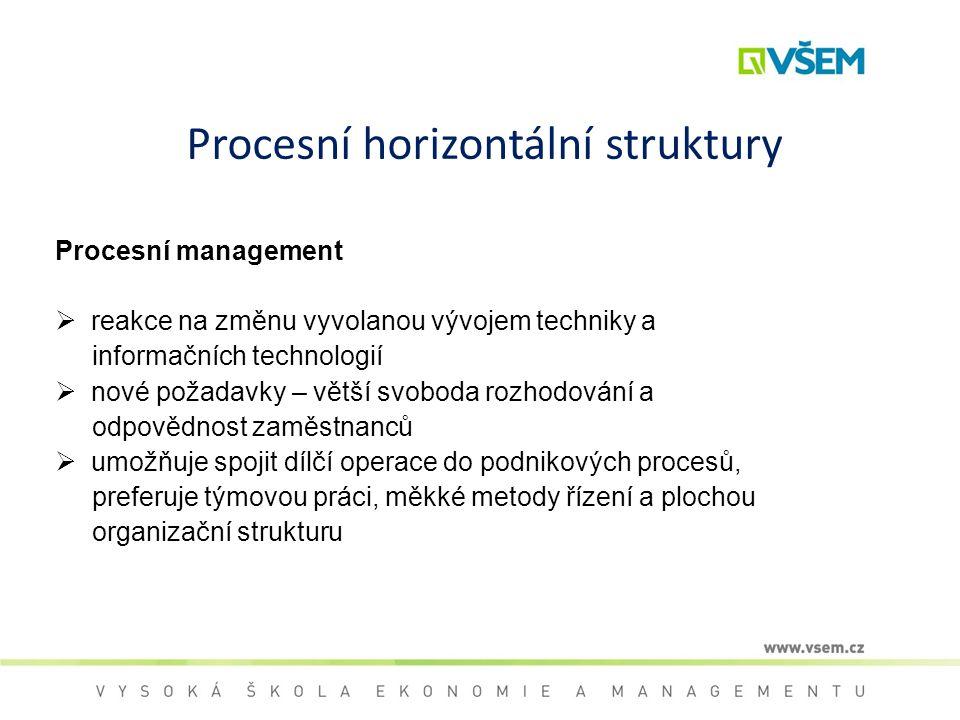 Procesní horizontální struktury