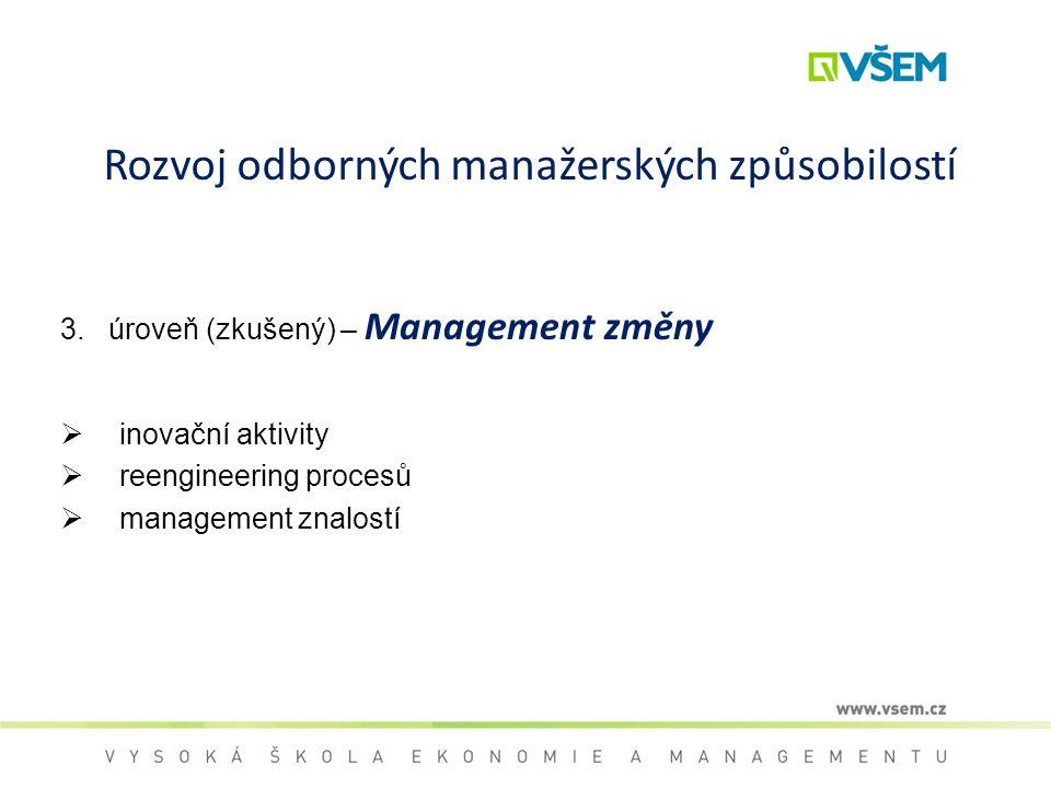 Rozvoj odborných manažerských způsobilostí