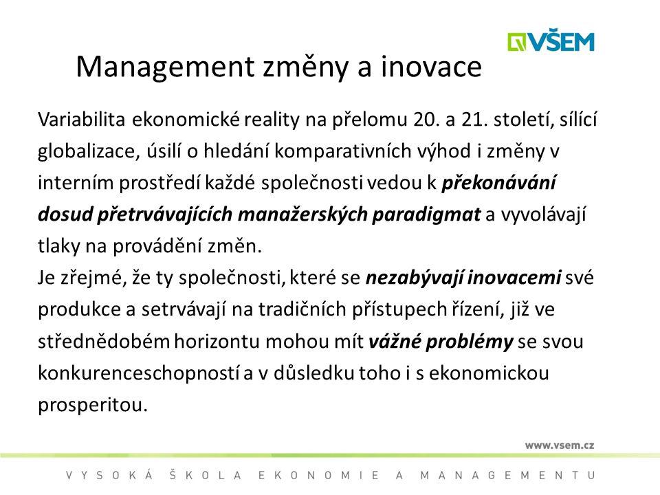Management změny a inovace