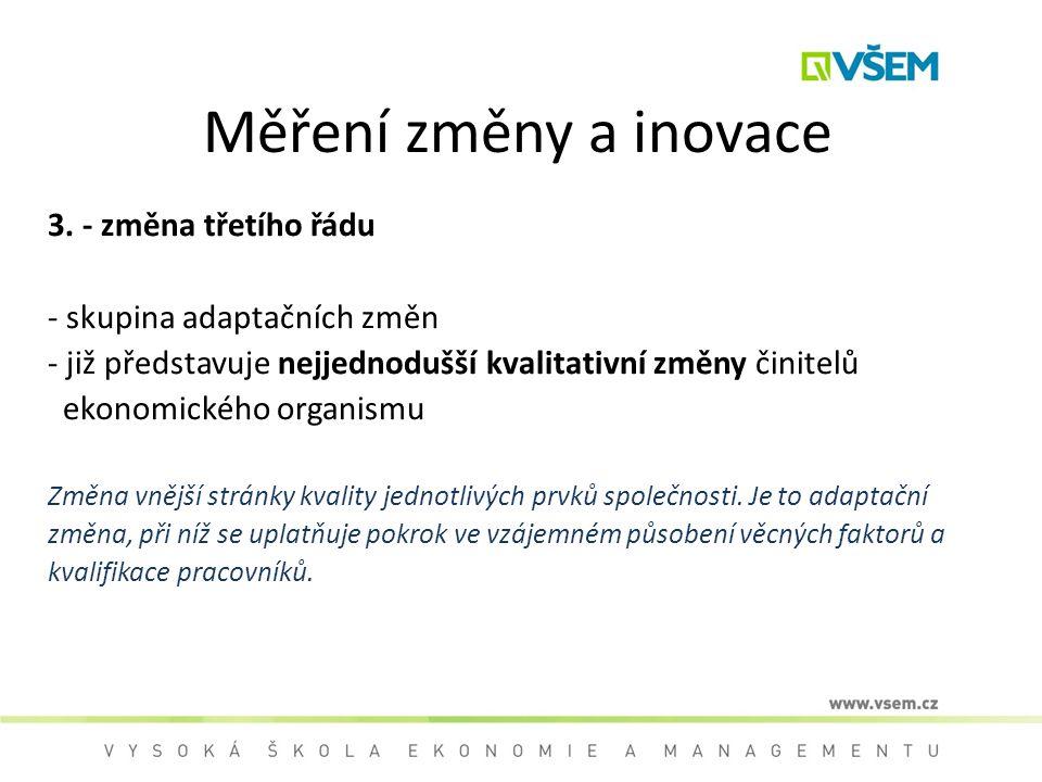 Měření změny a inovace 3. - změna třetího řádu