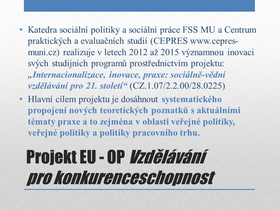 Projekt EU - OP Vzdělávání pro konkurenceschopnost