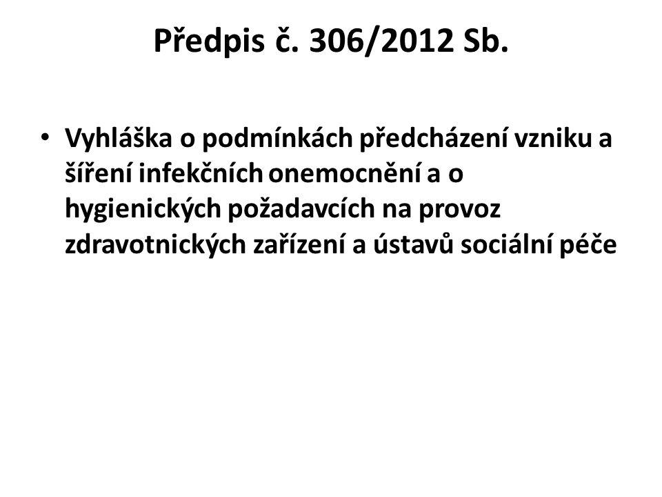 Předpis č. 306/2012 Sb.