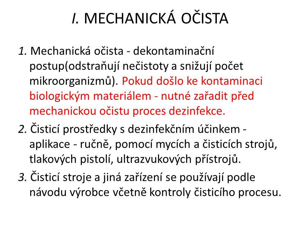 I. MECHANICKÁ OČISTA