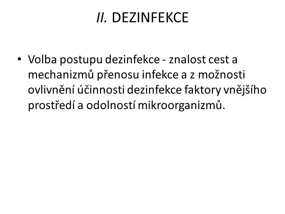 II. DEZINFEKCE